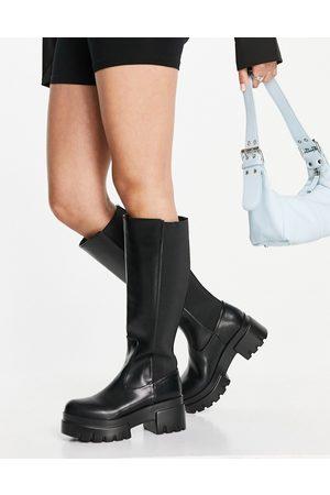 Ego Mujer Botas y Botines - Pulse pull up knee boots in black
