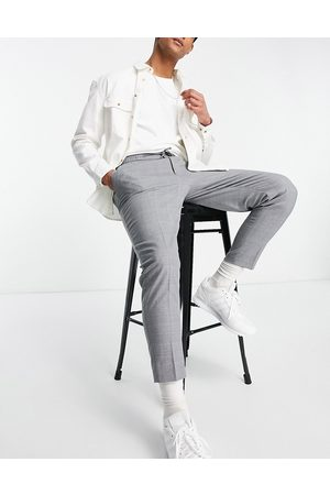 ASOS Hombre Chinos - Tapered pleat smart jogger in cross hatch