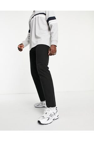 Weekday Hombre Chinos - Space Washed Trousers Black