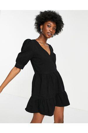 Miss Selfridge Mujer Casuales - Denim tierred dress in black