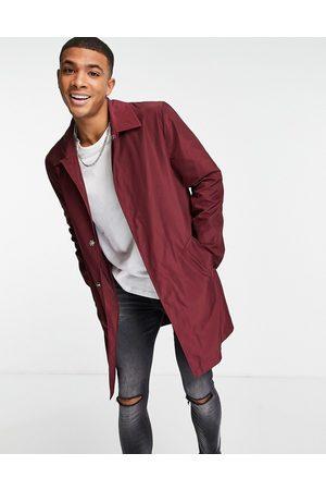ASOS Shower resistant trench coat in burgundy