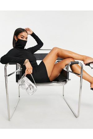 I saw it first Mujer Cortos - Mini dress with face covering in black