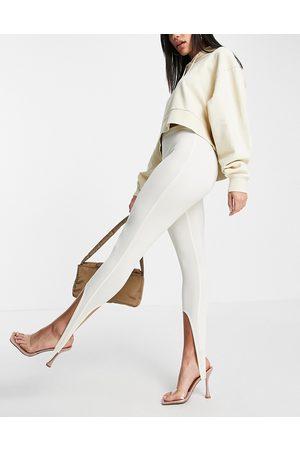Fashionkilla Stirrup leggings in buttercream