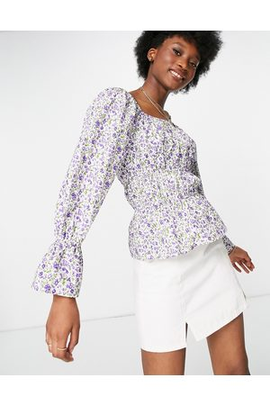 Influence Mujer Manga larga - Long sleeve blouse in ditsy floral print