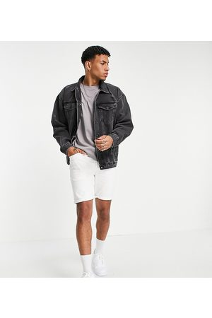 New Look Oversized denim jacket in mid grey