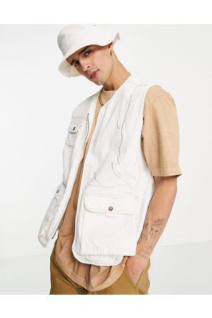 Karl Kani Signature utility vest in off white