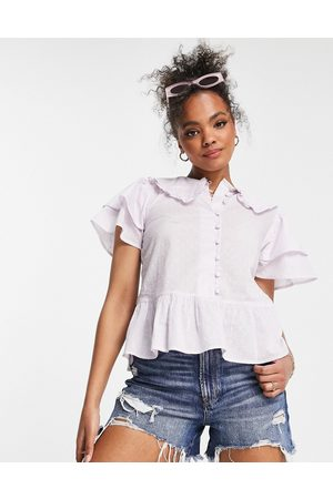 Influence Collared blouse in lilac