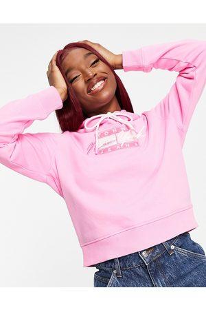 Tommy Hilfiger Flag logo hoodie in pink