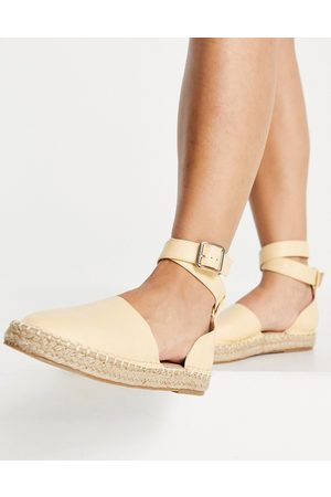 Truffle Collection Mujer Alpargatas - Two part espadrille shoes in yellow