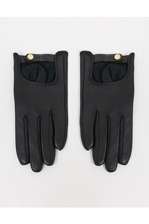 ASOS Mujer Guantes - Leather plain gloves with touch screen in black