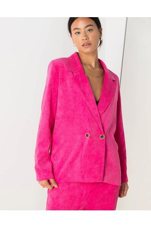 Daisy Street Relaxed blazer with vintage buttons in bright cord co
