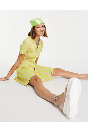 House of Holland Stripe Dress in Yellow