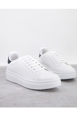 ASOS Hombre Tenis - Trainers with chunky sole and contrast heel in white