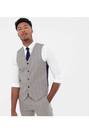 Gianni Feraud Tall slim fit heritage check wool blend waistcoat