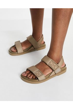 Monki Mujer Sandalias - Bebe padded dad sandals in taupe