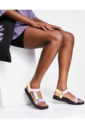 South Beach Sporty sandals in pastel colour block