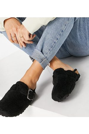 ASRA Mujer Flats - Fred clog shoes in black teddy