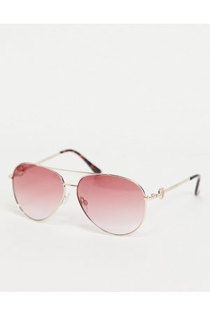 Lipsy Mujer Lentes de sol - Double brow sunglasses in gold