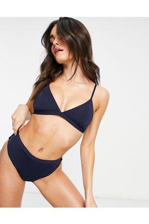 Tommy Hilfiger Zendaya triangle bikini top in navy