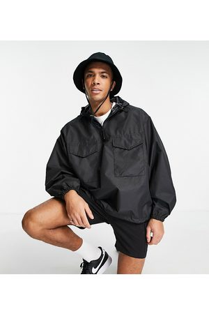 New Look Hombre Chamarras - Overhead utility jacket in black