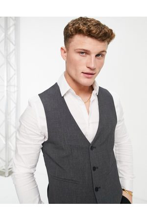 ASOS Hombre Chalecos - Super skinny waistcoat in charcoal