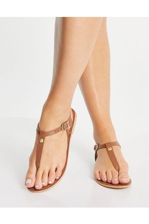 Accessorize Mujer Sandalias - T bar sandal in tan leather