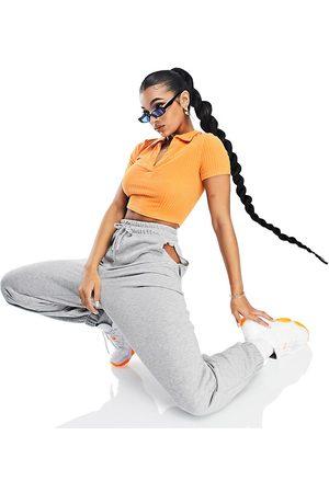 AsYou Mujer Leggings y treggings - Cut out joggers in grey marl