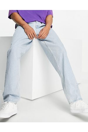 ASOS Hombre Rectos - Baggy jeans with double pleat and elastic waist detail