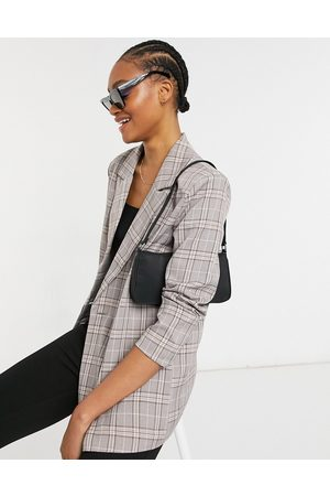 Urban Threads Mujer Abrigos de lana - Oversized double breasted blazer in heritage check