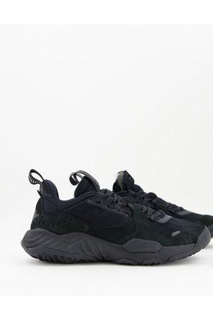 Jordan Nike Delta trainers in triple black