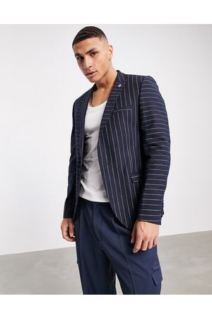 Twisted Tailor Hombre Sacos - Suit jacket with contrast pinstripes in navy