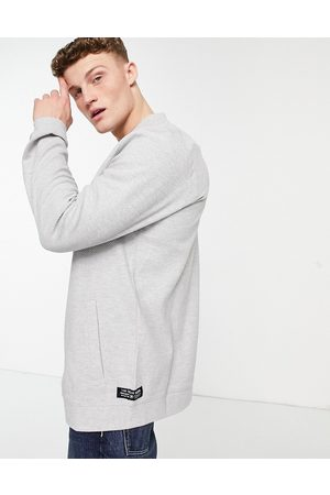 TOM TAILOR Hombre Bomber - Jersey bomber jacket in grey