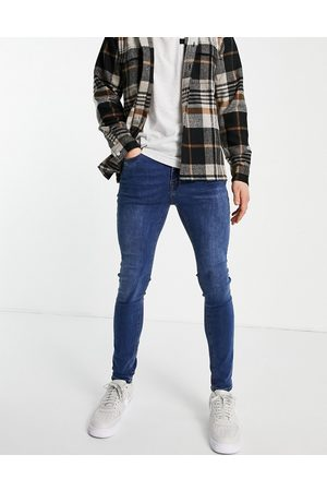 New Look Hombre Skinny - Super skinny jeans in mid blue