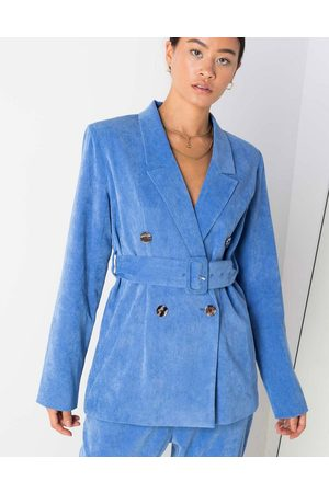Daisy Street Mujer Sacos - Belted blazer in cord co
