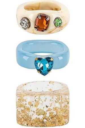 8 Other Reasons Conjunto de anillos en color talla all en - . Talla all.