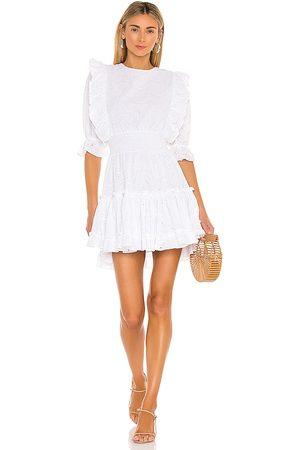 MISA Vestido doutzen en color talla L en - White. Talla L (también en XS, S, M).