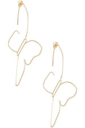 8 Other Reasons Aros gwen en color oro metálico talla all en - Metallic Gold. Talla all.