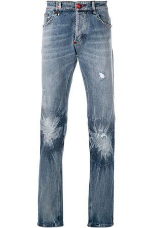 Philipp Plein Hombre Rectos - Jeans con efecto descolorido
