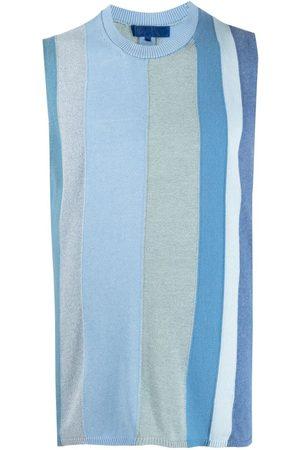 Comme Des Garçons Shirt Hombre Playeras - Top tejido con motivo de rayas