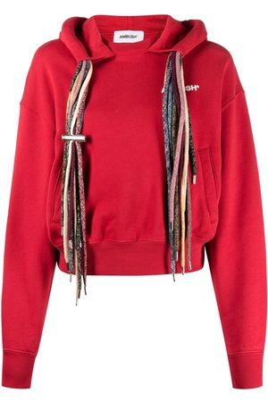AMBUSH MULTICORD BOXY HOODIE RED WHITE A