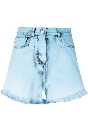 Msgm Mujer De mezclilla - Shorts de mezclilla con efecto envejecido