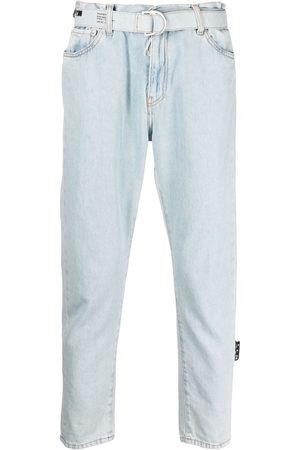 Off-White Jeans capri con cinturón
