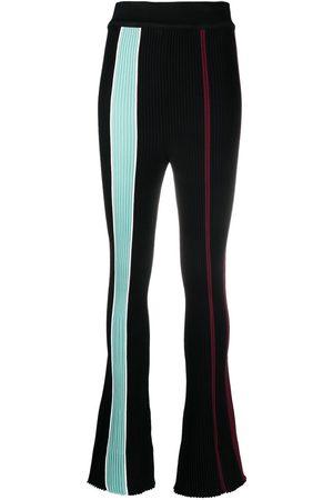 AMBUSH Mujer Acampanados - Pantalones con rayas verticales