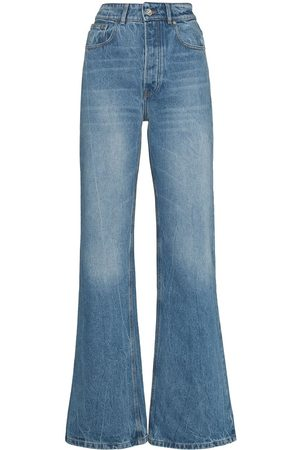 Paco rabanne Mujer Jeans - Jeans anchos con tiro alto