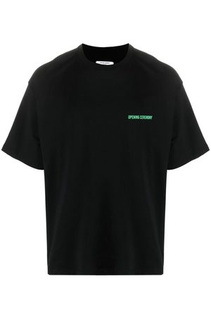 Opening Ceremony Hombre Playeras - WORD TORCH REGULAR T-SHIRT BLACK APRICOT