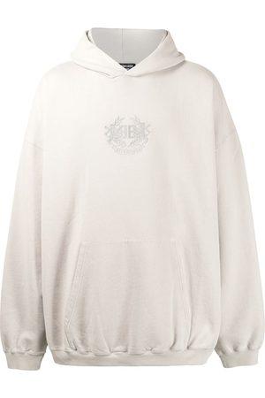 Balenciaga Hombre Con capucha - Hoodie oversize con logo bordado