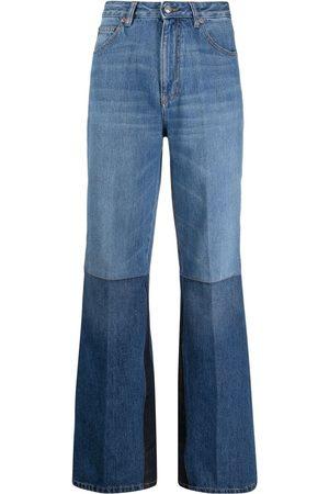 Victoria Beckham Mujer Acampanados - Jeans acampanados de dos tonos