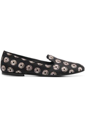 10 CORSO COMO Mujer Flats - Slippers con motivo de emoticono de x The Merchant of Florence