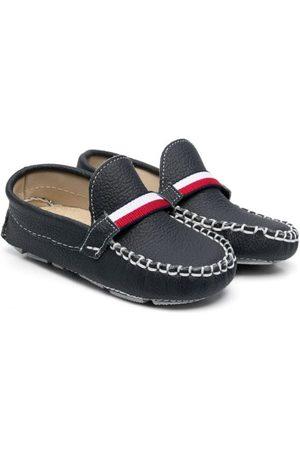 BabyWalker Grained leather moccasins