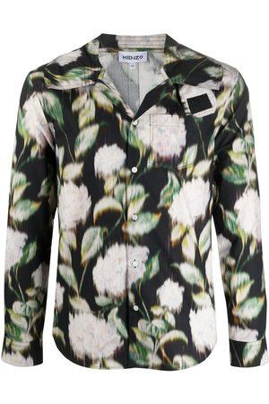 Kenzo Hombre Camisas - Camisa con capucha y estampado floral
